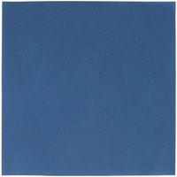 Navy Blue Flat Pack Linen-Like Napkin, 16 inch x 16 inch - Hoffmaster 125042 - 500/Case