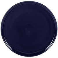 Homer Laughlin 575105 Fiesta Cobalt Blue 12 inch China Pizza / Baking Tray - 4 / Case