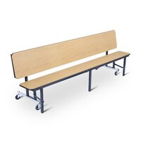 National Public Seating CBG84 7 Foot Mobile Convertible Cafeteria Bench Unit with Particleboard Core and Ganging Devices