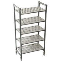 Cambro Camshelving Premium CPMS244867V5480 Mobile Shelving Unit with Standard Casters 24 inch x 48 inch x 67 inch - 5 Shelf