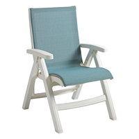 Grosfillex US354550 Spa Blue Replacement Sling for Belize Midback Folding Resin Armchairs