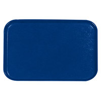 Carlisle 2618FGQ015 Customizable Navy Blue 18 inch x 26 inch Glasteel Display / Bakery Fiberglass Tray - 6/Case
