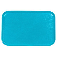 Carlisle 2618FGQ011 Customizable Turquoise 18 inch x 26 inch Glasteel Display / Bakery Fiberglass Tray - 6/Case