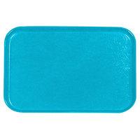 Carlisle 2618FGQ011 Customizable Turquoise 18 inch x 26 inch Glasteel Display / Bakery Fiberglass Tray - 6/Case
