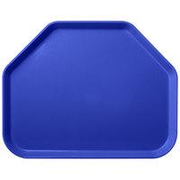 Carlisle 1713FG014 Customizable 14 inch x 18 inch Glasteel Cobalt Blue Trapezoid Fiberglass Tray - 12/Case