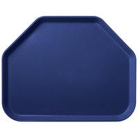 Carlisle 1713FG050 Customizable 14 inch x 18 inch Glasteel Sapphire Blue Trapezoid Fiberglass Tray - 12/Case