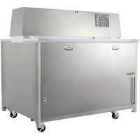 Traulsen RMC58D6 58 inch Double Side School Milk Cooler with 6 inch Casters - 115V