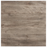 Grosfillex 99841176 32 inch x 32 inch Aged Oak Square Molded Melamine Tabletop