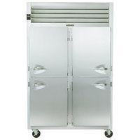 Traulsen G20006P 2 Section Solid Half Door Pass-Through Refrigerator - Right / Left Hinged Doors