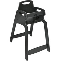 Koala Kare KB833-02-KD Black Unassembled Recycled Plastic High Chair