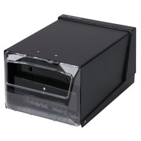 San Jamar H3001CLBK Fullfold Countertop Napkin Dispenser - Clear Face with Black Body