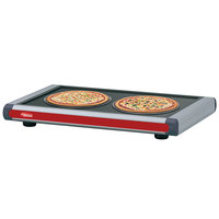 Hatco GR2S-48 48 inch Glo-Ray Warm Red Designer Portable Heated Shelves with Dark Gray Caps - 700W