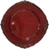 The Jay Companies 13 inch Round Royal Red Acrylic Charger Plate