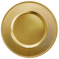 The Jay Companies 13 inch Round Sunray Gold Acrylic Charger Plate