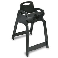 Koala Kare KB833-02 Black Assembled Recycled Plastic High Chair