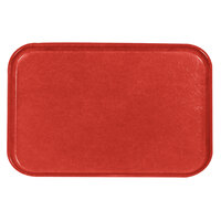 Carlisle 2637FG017 Customizable 10 1/2 inch x 14 1/2 inch (26,5 x 37 cm) Glasteel Euronorm Red Fiberglass Tray - 12/Case