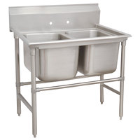 Advance Tabco 94-22-40 Spec-Line Two Compartment Pot Sink - 52 inch