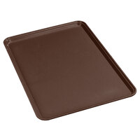 Carlisle 1826FG127 Customizable 7 inch x 10 1/4 inch (18 x 26 cm) Glasteel Euronorm Chocolate Fiberglass Tray - 12/Case