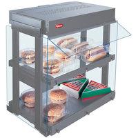 Hatco GRHW-1SGD White Dual Shelf Heated Glass Mini-Merchandising Warmer - 1330W