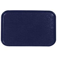 Carlisle 2115FG050 Customizable 14 3/4 inch x 20 7/8 inch (37,5 cm x 53 cm) Glasteel Metric Sapphire Blue Fiberglass Tray - 12/Pack