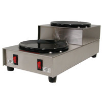 Grindmaster BW-2SU Two Tier Double Burner Coffee Warmer Station - 120V