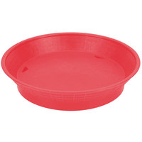 Tablecraft 157512R 12 inch Red Plastic Diner Platter / Fast Food Basket with Base - 12/Pack