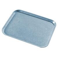 Carlisle 1418LDFG029 Customizable 14 inch x 18 inch Glasteel Starfire Blue Dietary Fiberglass Tray - 12/Case