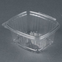 Genpak AD16 5 3/8 inch x 4 1/2 inch x 2 5/8 inch 16 oz. Clear Hinged Deli Container - 100 / Pack