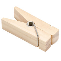 American Metalcraft CPCHN 3 1/4 inch Natural Clothespin Card Holder
