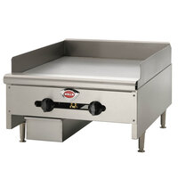 Wells HDTG-4830G Heavy Duty 48 inch Gas Countertop Griddle - 120,000 BTU