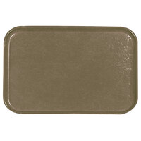 Carlisle 2115FG076 Customizable 14 3/4 inch x 20 7/8 inch (37,5 cm x 53 cm) Glasteel Metric Toffee Tan Fiberglass Tray - 12/Pack