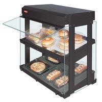 Hatco GRHW-1SGDS Gray Dual Slanted Shelf Heated Glass Mini-Merchandising Warmer - 1330W