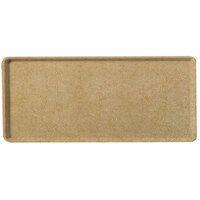 Carlisle 1222LDFG031 Customizable 12 inch x 21 inch Glasteel Starfire Beige Dietary Fiberglass Tray - 12/Case