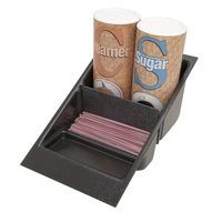 Grindmaster 70583 Three Compartment Coffee Condiment Holder - 6 1/4 inch x 14 inch