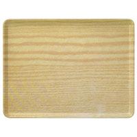 Carlisle 1520LWFG065 Customizable 15 inch x 20 inch Glasteel Wood Grain Light Oak Dietary Fiberglass Tray - 12/Case