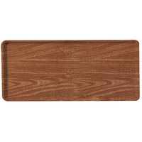 Carlisle 1222LWFG063 Customizable 12 inch x 21 inch Glasteel Wood Grain Pecan Dietary Fiberglass Tray - 12/Case