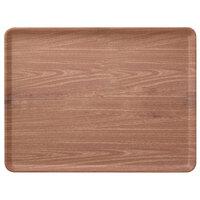 Carlisle 1520LWFG063 Customizable 15 inch x 20 inch Glasteel Wood Grain Pecan Dietary Fiberglass Tray - 12/Case