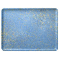 Carlisle 1419DFG029 Customizable 14 inch x 19 inch (50 x 38.5 cm) Glasteel Metric Starfire Blue Fiberglass Tray - 12/Case