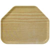 Carlisle 1713WFG065 Customizable 14 inch x 18 inch Glasteel Wood Grain Light Oak Trapezoid Fiberglass Tray - 12/Case