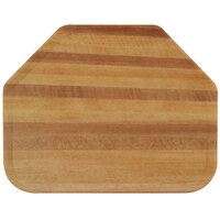 Carlisle 1713WFG092 Customizable 14 inch x 18 inch Glasteel Wood Grain Butcher Block Trapezoid Fiberglass Tray - 12/Case