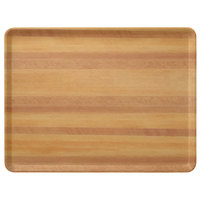 Carlisle 1418LWFG092 Customizable 14 inch x 18 inch Glasteel Wood Grain Butcher Block Dietary Fiberglass Tray - 12/Case