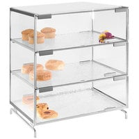 Cal-Mil PC300-39 Three Tier Platinum Pastry Display Case - 16 inch x 23 inch x 20 inch