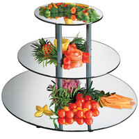 Cal-Mil MT300 30 1/2 inch x 24 3/4 inch Round 3 Tier Mirror Display Riser