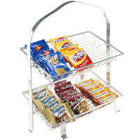 Cal-Mil 1584-12-74 Soho Two Tier Silver Merchandiser Frame - 23 3/4 inch x 14 1/4 inch x 26 1/2 inch
