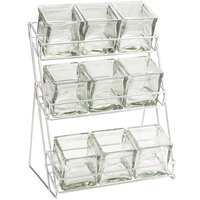 Cal-Mil 1812-39 Iron Three Tier Platinum Nine Jar Display - 13 inch x 9 1/2 inch x 17 1/2 inch