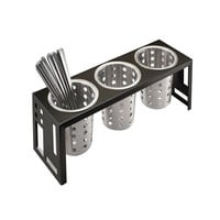 Cal Mil 1608-13 Squared Black 3 Cylinder Display – 16 inch x 5 1/4 inch x 6 inch