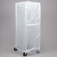 52 inch x 80 inch Disposable .6 Mil Bun Pan Rack Covers - 50/Roll