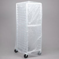 52 inch x 80 inch Disposable .6 Mil Bun Pan Rack Covers - 50 / Roll