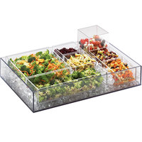 Cal-Mil 1399-12 Cater Choice System Clear Ice Housing - 24 inch x 16 inch x 4 1/4 inch