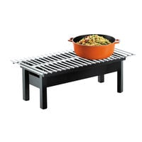 Cal-Mil 1409-22-13 One by One Black Chafer Griddle - 22 inch x 12 inch x 7 inch